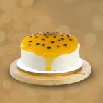 Torta de Maracuyá con fondo crema